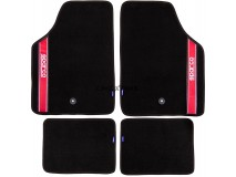 Kit 4 Carpets Sparco Corsa Strada 2012 B Red