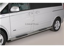 [47.MVV1 28/I] Side Steps Oval Stainless Steel Mercedes Viano 2015
