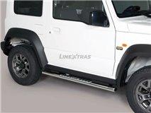 [52.SJ2 27/I] Stainless Stirrups w / Aluminum Plate. Suzuki Jimny
