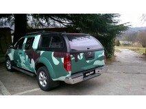 Hard-Top Nissan Navara D40 W/ Windows Linextras (Painted)