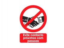 "Sticker 25X30Cm ""Avoid Contact"""