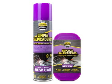 Spray and sponge kit for indoor plastics - NEW CAR