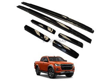 Longitudinal roof bars black isuzu 2020 Double cab
