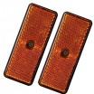 2x Orange Rectangular Reflectors 90x35mm (Screw Fitting)