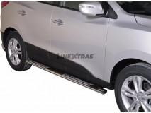 Side Steps Hyundai IX35 2011+ Stainless Steel DSP