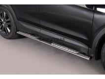 Side Steps Hyundai Santa Fe 2012+ Stainless Steel DSP