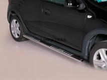 Side Steps Dacia Sandero Stepway 2013+ Steel DSP