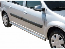 Side Protections Dacia Logan MCV 2009+ Stainless Steel Tube 63MM