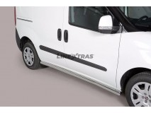 Side Protections Fiat Doblo 2010+ Stainless Steel Tube 63MM