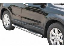 Side Steps Honda CR-V 07-10 Stainless Steel Tube 76MM