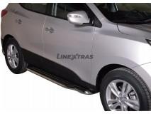 Side Steps Hyundai IX35 2011+ Stainless Steel W/ Platform
