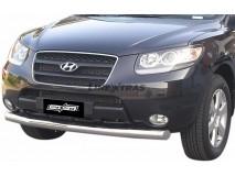 Front Protection Hyundai Santa Fe 06-10 Inox 76ММ
