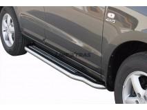 Side Steps Hyundai Santa Fe 06-10 Stainless Steel W/ Platform