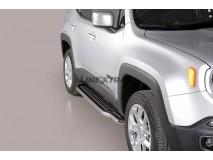 Side Steps Jeep Renegade / Renegade Trailhawk 2014+ Stainless Steel W/ Platform
