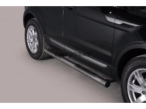 Side Steps Land Rover Evoque Pure & Prestige 11-15 Stainless Steel Tube 76MM