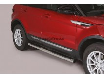 Side Steps Land Rover Evoque 2016+ Stainless Steel Tube 76MM