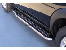 Side Steps Land Rover Freelander 98-07 Stainless Steel W/ Platform