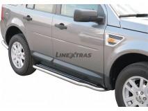 Side Steps Land Rover Freelander 2 2008+ Stainless Steel W/ Platform