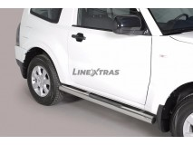 Side Steps Mitsubishi Pajero 2007+ 3D Stainless Steel Tube 76MM