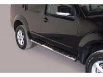 Side Steps Nissan Pathfinder / Pathfinder V6 2011+ Stainless Steel Tube 76MM