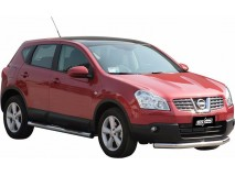 Front Protection Nissan Qashqai 07-10 Stainless Steel 76ММ