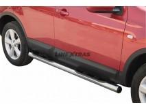 Side Steps Nissan Qashqai 07-10 Stainless Steel Tube 76MM