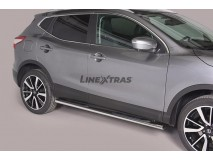 Side Steps Nissan Qashqai 2014+ Stainless Steel GPO