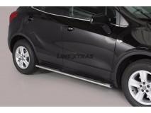 Side Steps Opel Mokka 12-16 / Opel Mokka X 2016+ Stainless Steel GPO
