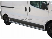 Side Protections Renault Trafic 07-13 Stainless Steel Tube 63MM