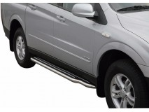 Side Steps Ssangyong Actyon Sports 07-12 Stainless Steel W/ Platform