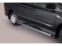 Side Steps Ssangyong Actyon Sports 2012+ Stainless Steel Tube 76MM
