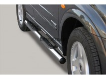 Side Steps Ssangyong Kyron 06-07 Stainless Steel Tube 76MM