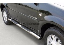 Side Steps Ssangyong Rexton 04-06 Stainless Steel Tube 76MM