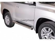 Side Steps Toyota Land Cruiser 150 2009+ 3D Stainless Steel Tube 76MM