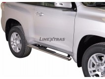 Side Steps Toyota Land Cruiser 150 2009+ 3D Stainless Steel GPO