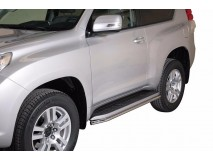 Side Protections Toyota Land Cruiser 150 2009+ 3D Stainless Steel Tube 40MM