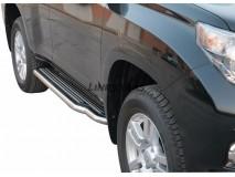 Side Steps Toyota Land Cruiser 150 2009+ 5D Stainless Steel W/ Platform