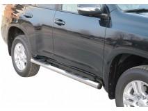 Side Steps Toyota Land Cruiser 150 2009+ 5D Stainless Steel Tube 76MM