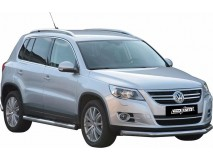 Front Protection VW Tiguan 08-11 Stainless Steel 76ММ