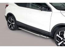 Side Steps Nissan Qashqai 2014+ Stainless Steel W/ Platform